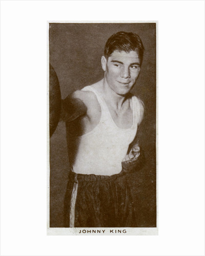 Johnny King, British boxer by Anonymous