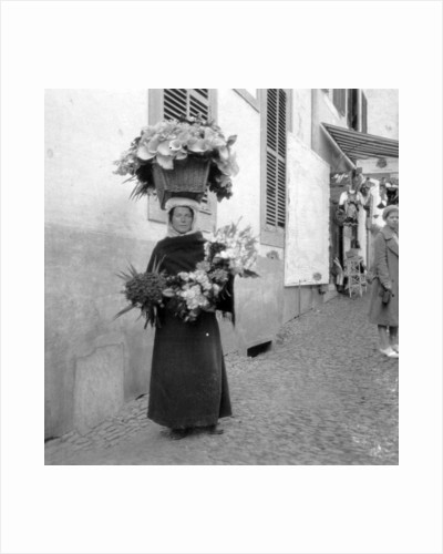 Flower seller, Funchal, Madeira by Anonymous