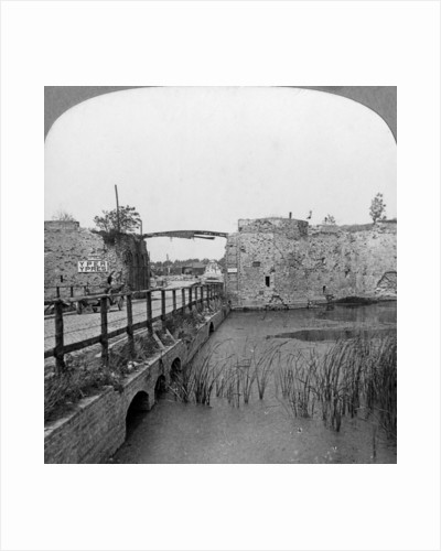 14th century ramparts and Lille Gate, Ypres, Belgium, World War I by Realistic Travels Publishers