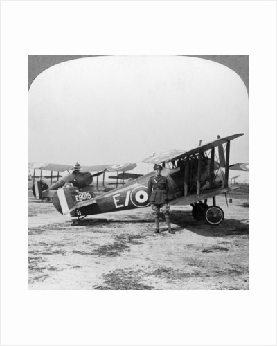 Sopwith Camel aircraft ready for a patrol over the German lines, World War I by Realistic Travels Publishers