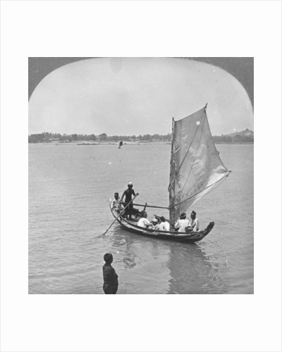 A sailing boat on the Irawaddy River, Burma by Stereo Travel Co