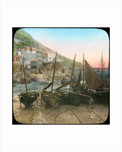 Fishing fleet at low tide, Polperro, Cornwall by Church Army Lantern Department