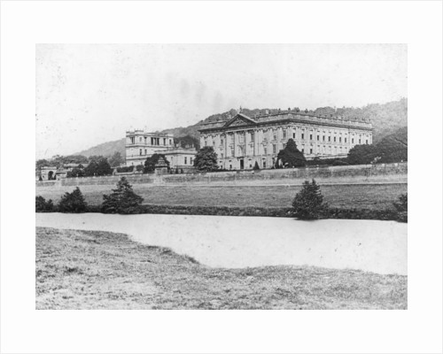 Chatsworth House from across the River Derwent, Derbyshire by Anonymous