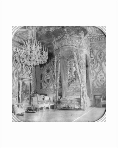 Marie Antoinette's bedroom, Palace of Fontainebleau, France by Anonymous