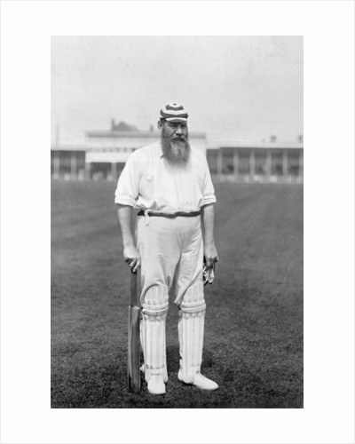 Dr WG Grace, English cricketer, playing for London County Cricket Club by WA Rouch
