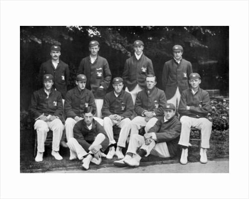 Oxford University cricket XI by Stearn