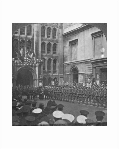 Inspecting the Guard of Honour at the Guildhall, London, World War I by Realistic Travels Publishers