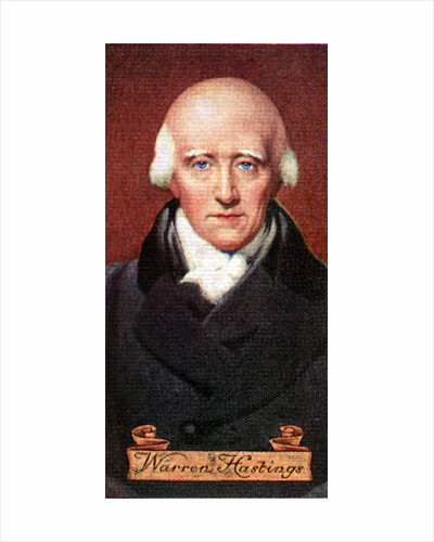 Warren Hastings, taken from a series of cigarette cards by Anonymous