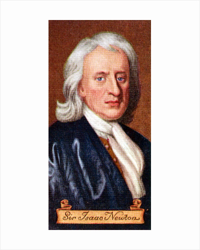 Sir Isaac Newton, taken from a series of cigarette cards by Anonymous
