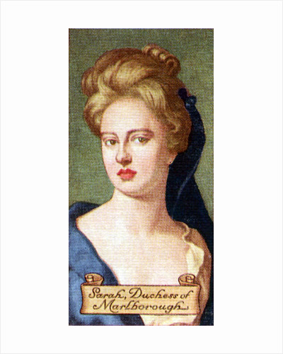 Sarah, Duchess of Marlborough, taken from a series of cigarette cards by Anonymous