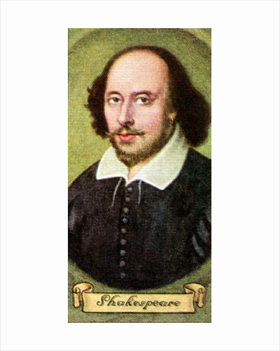William Shakespeare, taken from a series of cigarette cards by Anonymous