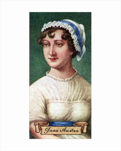 Jane Austen, taken from a series of cigarette cards by Anonymous