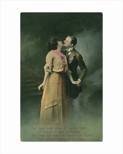Vintage romantic poatcard by Anonymous