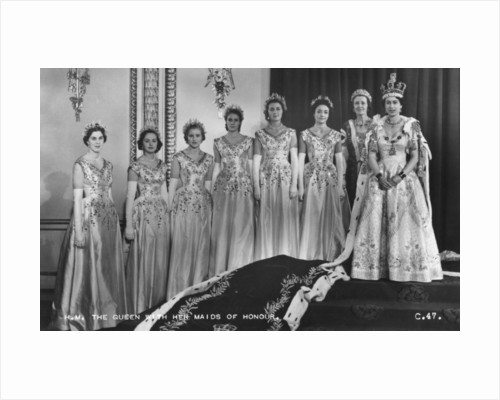 HM Queen Elizabeth II with her Maids of Honour, The Coronation by Cecil Beaton
