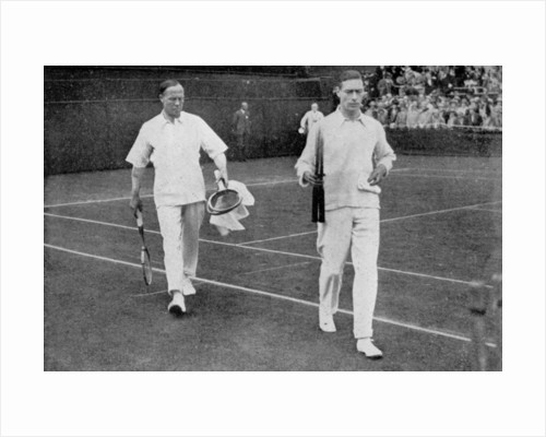 The Duke of York and his doubles partner Wing Commander Sir Louis Greig, Wimbledon 1926 by London News Agency