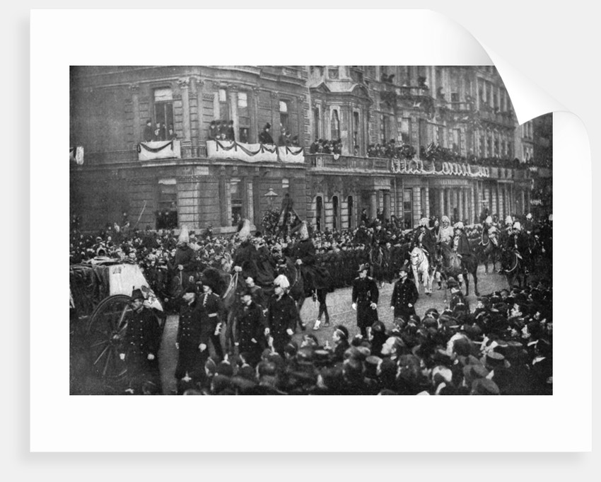 Queen Victoria's funeral procession passing through London by Anonymous
