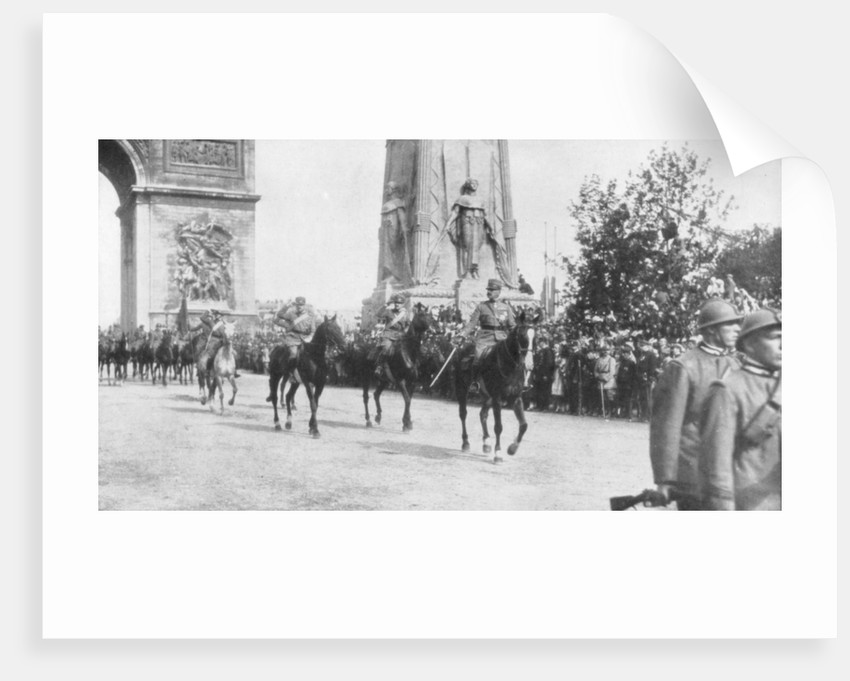 General Montuori and Italian troops during the victory parade, Paris, France,14 July 1919 by Anonymous