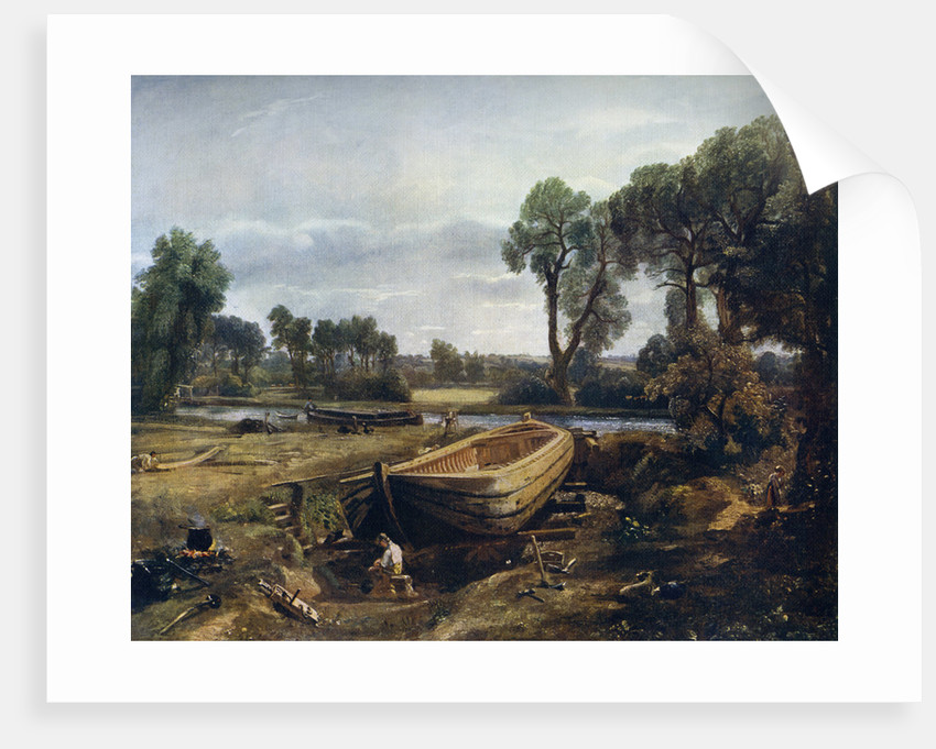 Boat Building Near Flatford Mill posters & prints by John Constable