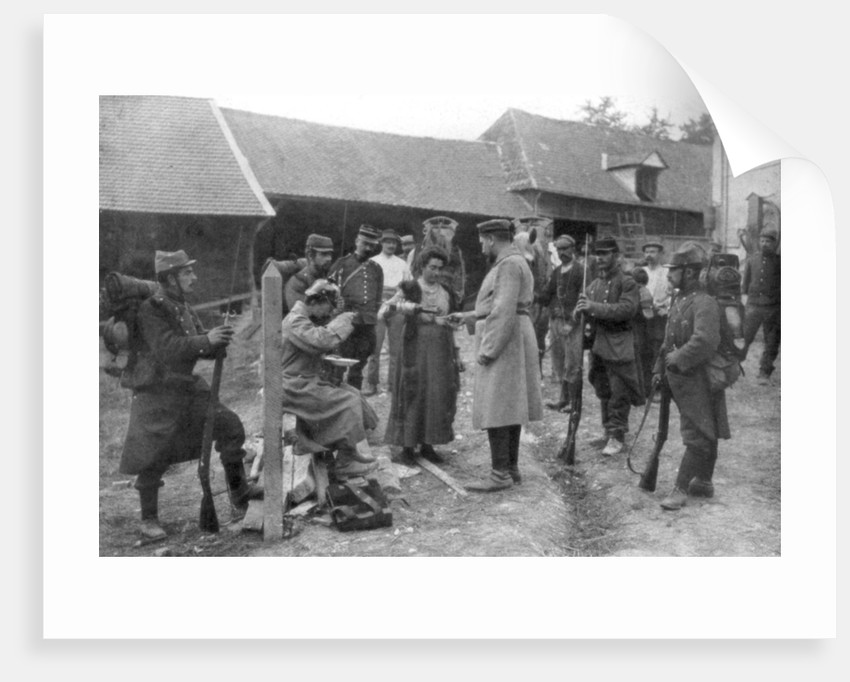 Captured German prisoners, France, August 1914 by Anonymous