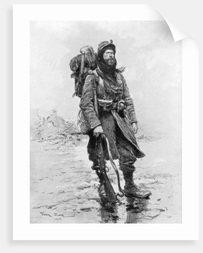 The Soldier of 1915, (the archetypical Poilu) by Georges Bertin Scott