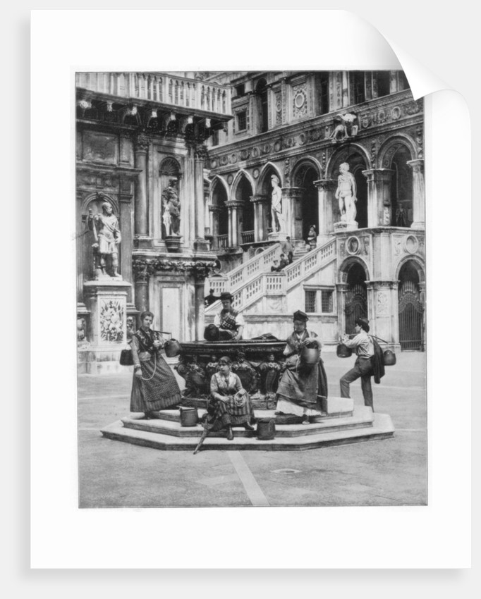 Courtyard of the Ducal Palace, Venice by John L Stoddard