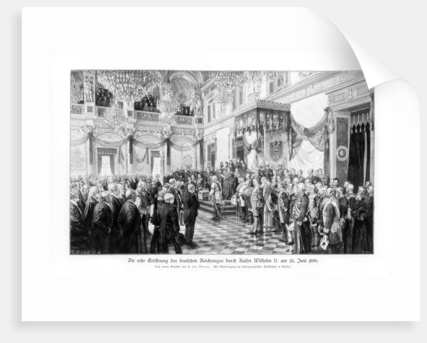 Wilhelm II and the ministers at the opening of the Reichstag by Anonymous
