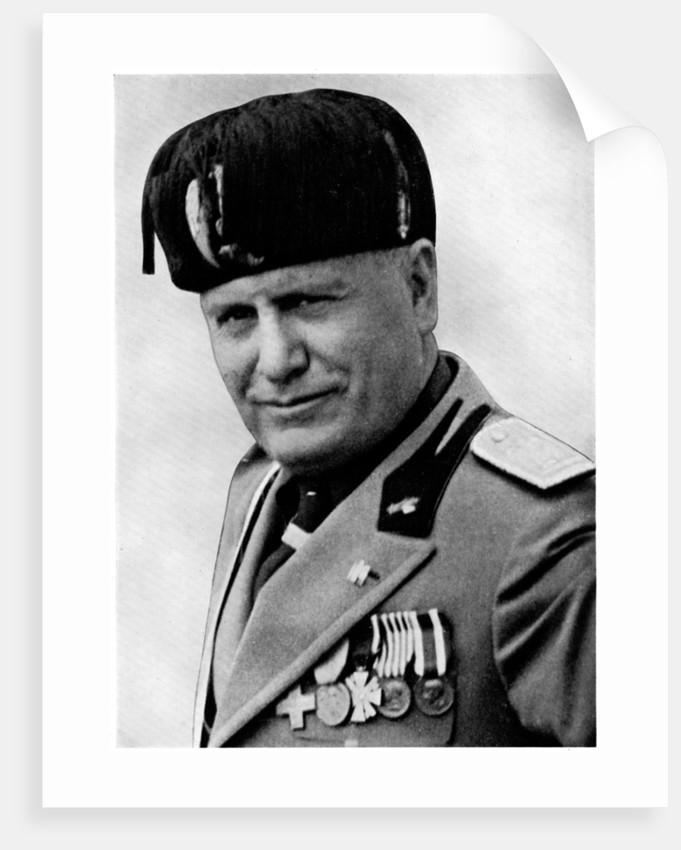 Benito Mussolini Italian Fascist Dictator Posters