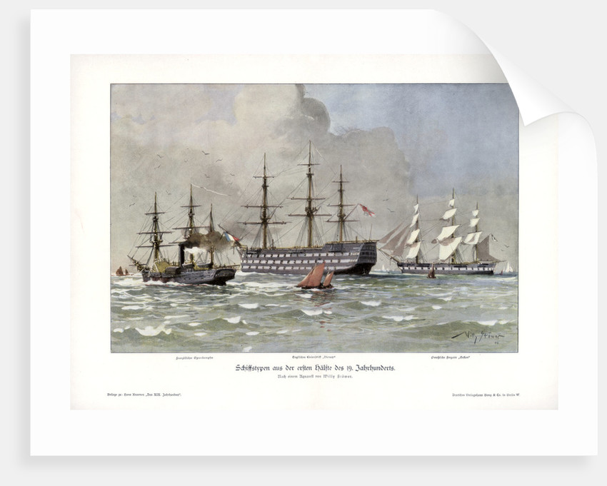 Ship types from the first half of the 19th century by Willy Stower