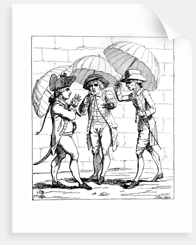 'A Meeting of Umbrellas' 1782 by J Kent