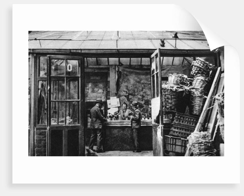 A bar in the Central Market quarter, Paris by Ernest Flammarion