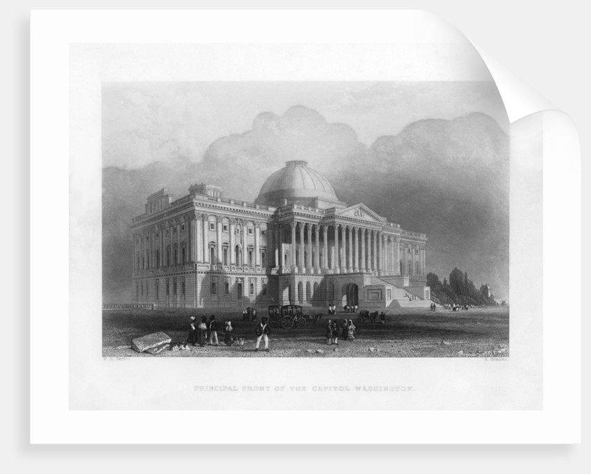 Principal front of the Capitol, Washington by R Brandard