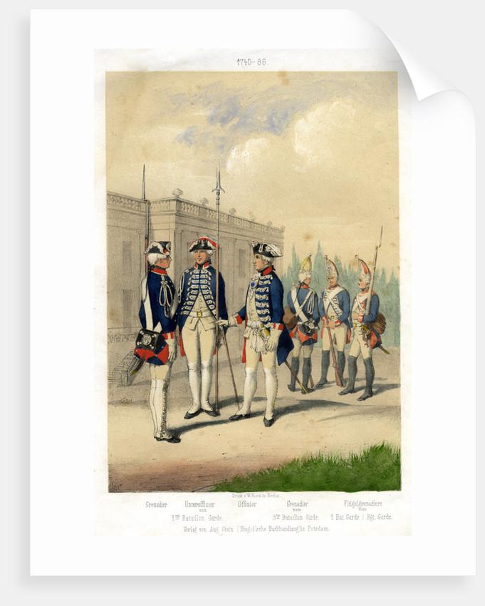German military uniforms, 1740-1786 (19th century) by W Korn