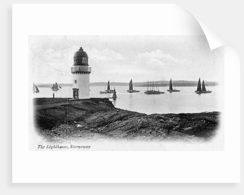 The lighthouse at Stornoway, Isle of Lewis, Scotland by Anonymous