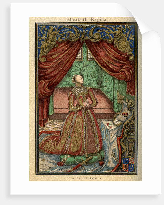 Queen Elizabeth I at prayer by Anonymous