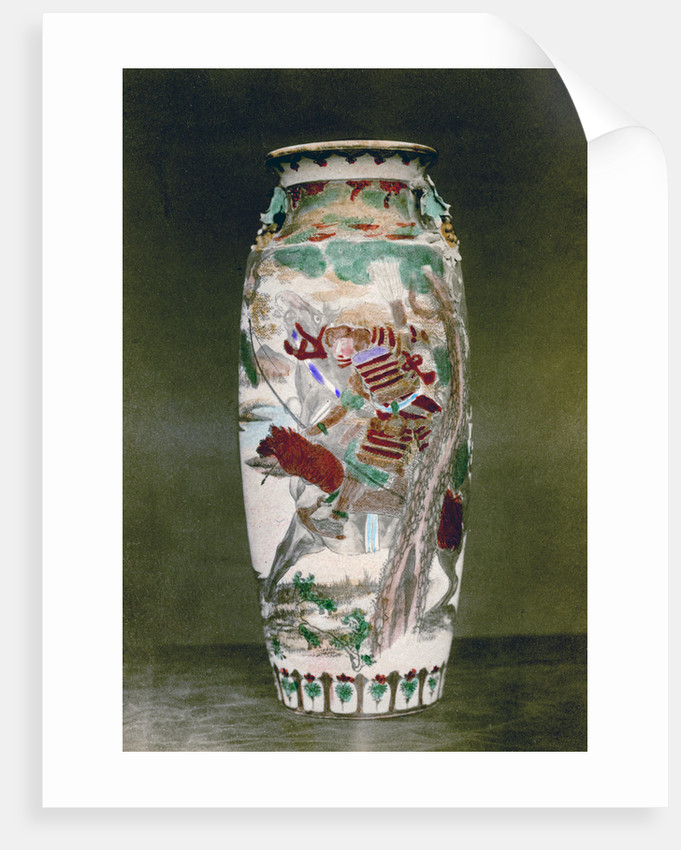 Satsuma Vase Japan Posters Prints By Baron Raimund Von Stillfried