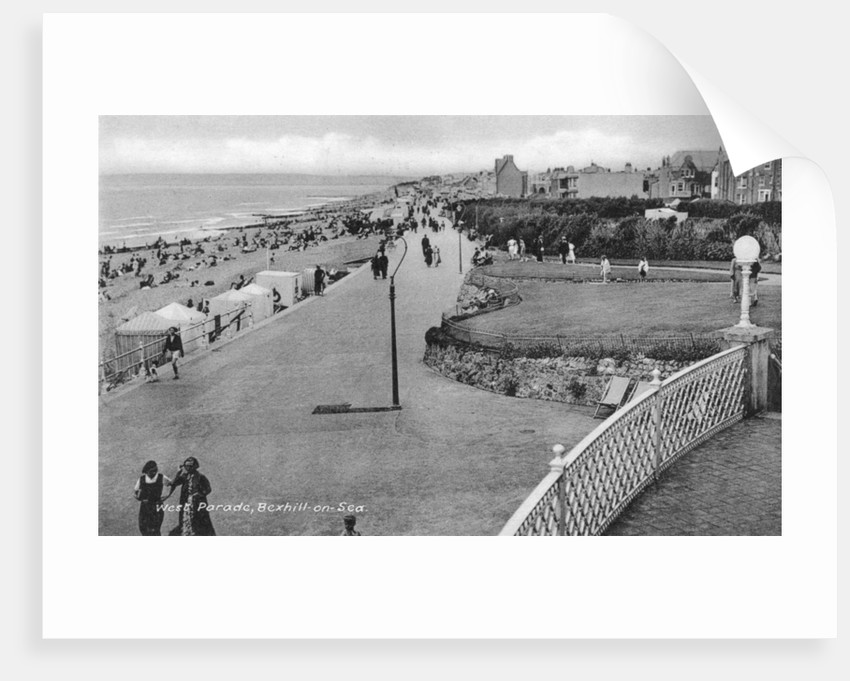 Holidaymakers on West Parade, Bexhill-on-Sea, East Sussex by Anonymous