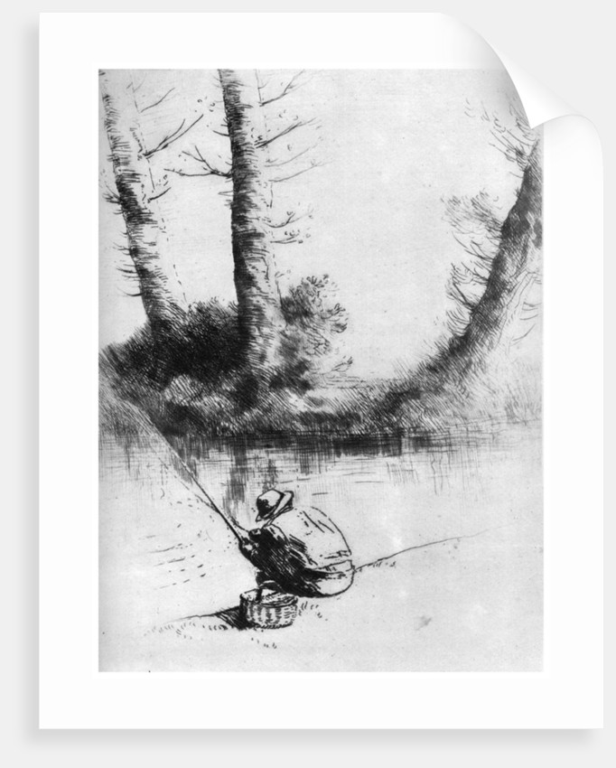 The Angler by Alphonse Legros