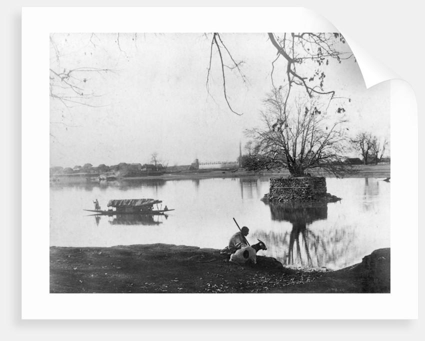 Jhelum river, Shadipur, Kashmir, India by F Bremner