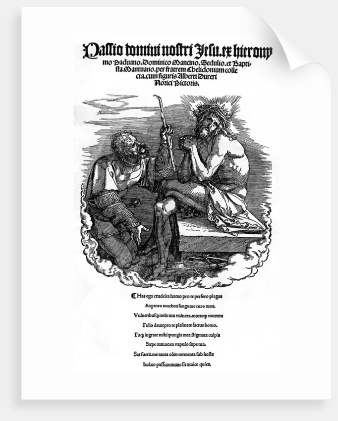 Titlepage to the series 'The Great Passion' by Albrecht Dürer