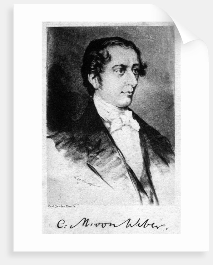 Carl Maria von Weber (1786-1826), German composer by Anonymous