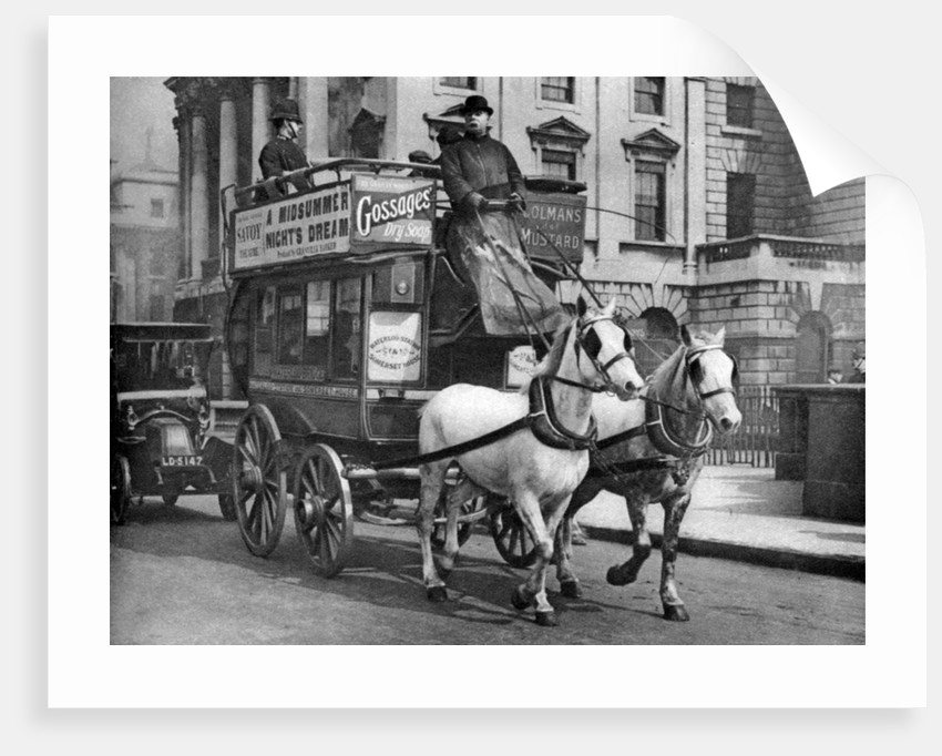 a horse drawn bus london posters prints by anonymous