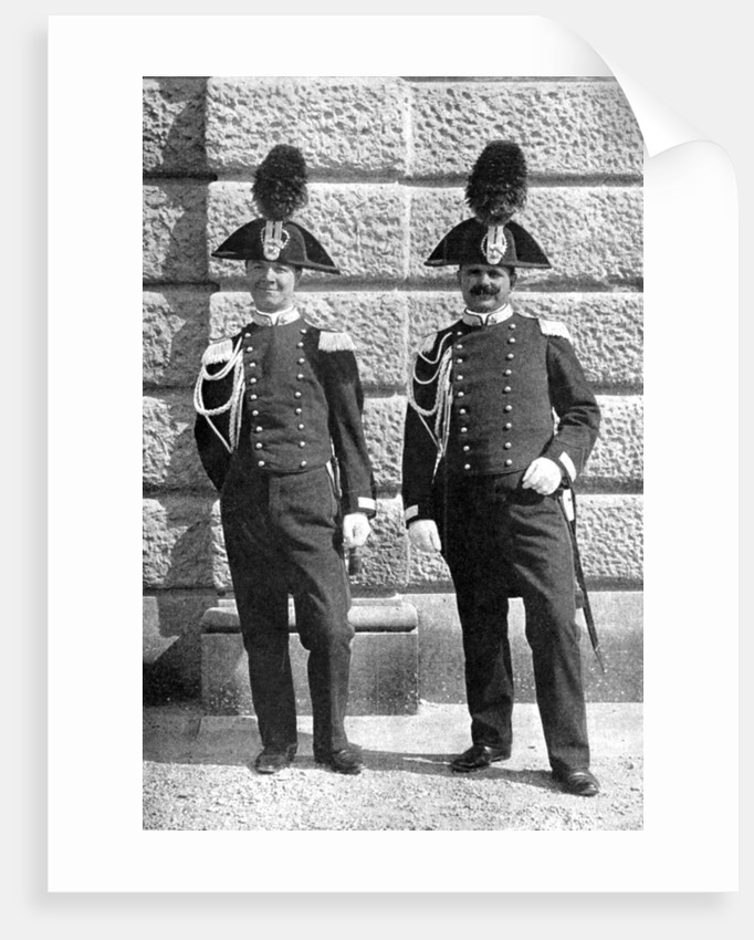 Two Italian policemen by Donald McLeish