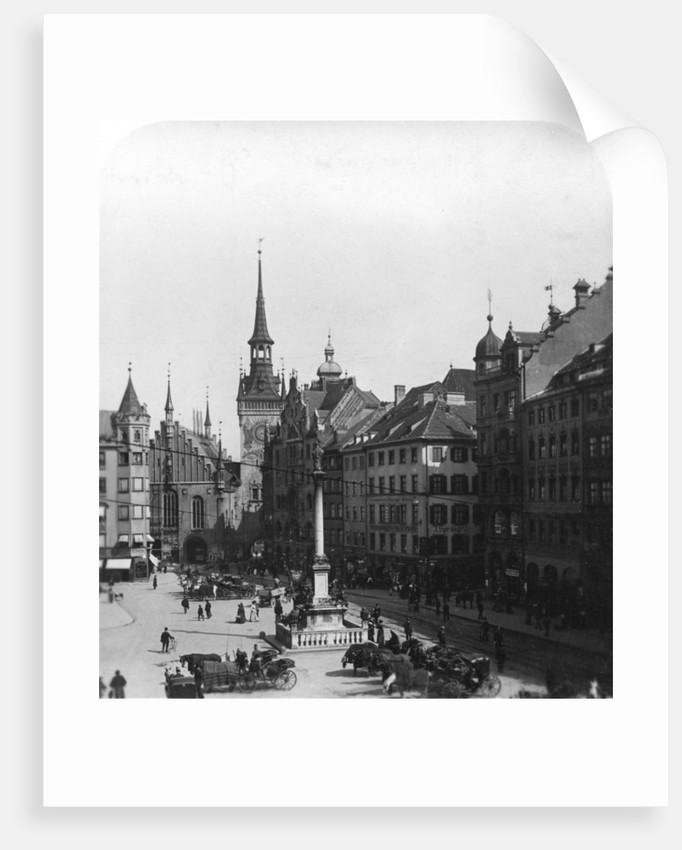 Marienplatz, Munich, Germany by Wurthle & Sons
