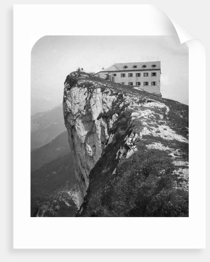 Hotel on the top of Mount Schafberg, Salzkammergut, Austria by Wurthle & Sons