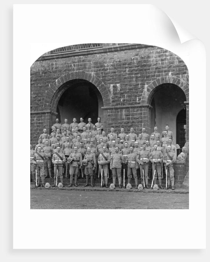 'H' Company, Royal Warwickshire Regiment, Belgaum, India by Underwood & Underwood