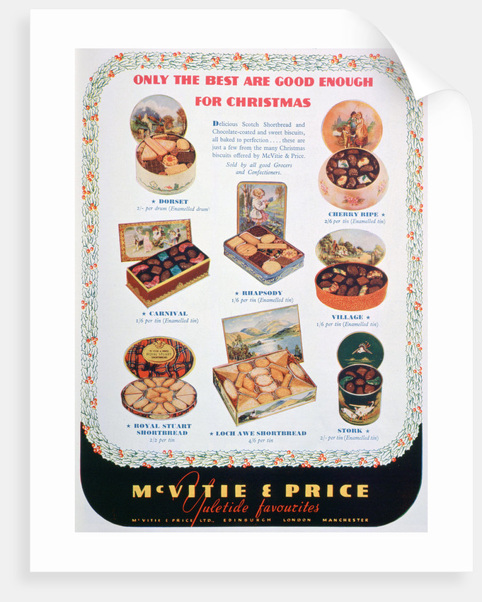 Advert for McVitie and Price biscuits by Anonymous