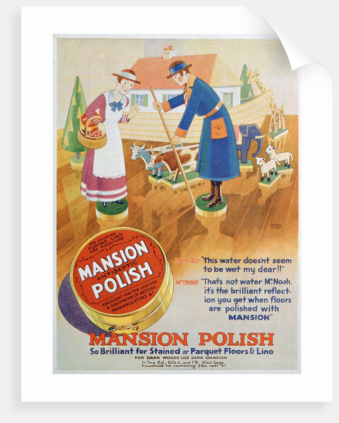 Advert for Mansion antiseptic floor polish by Anonymous