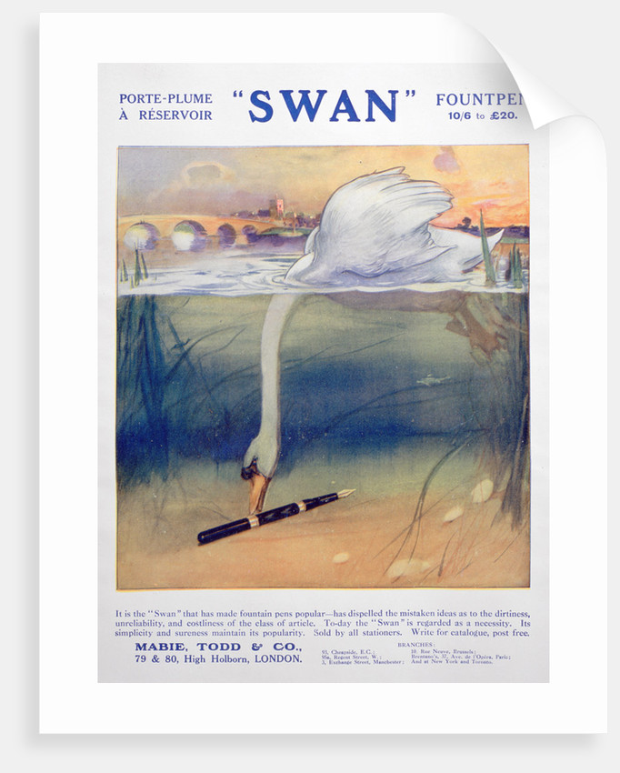 Advert for Swan fountain pens by Anonymous