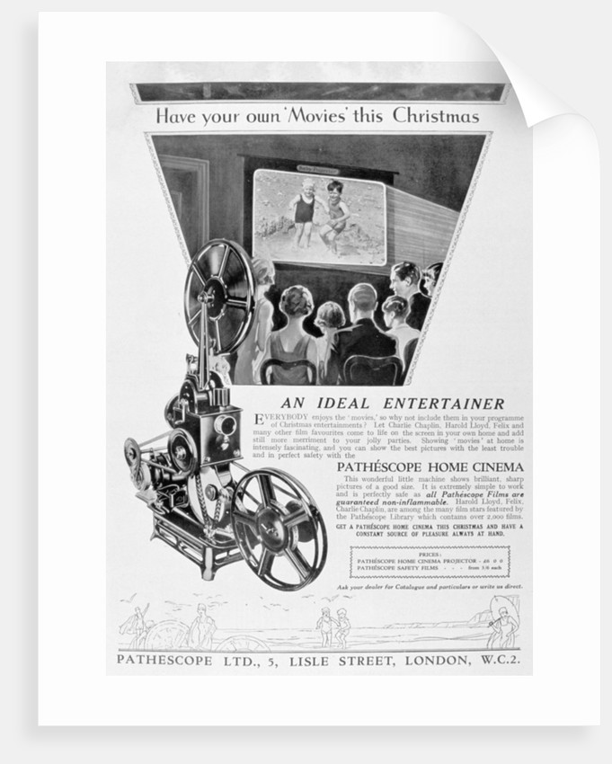 Advert for the Pathescope Home Cinema by Anonymous