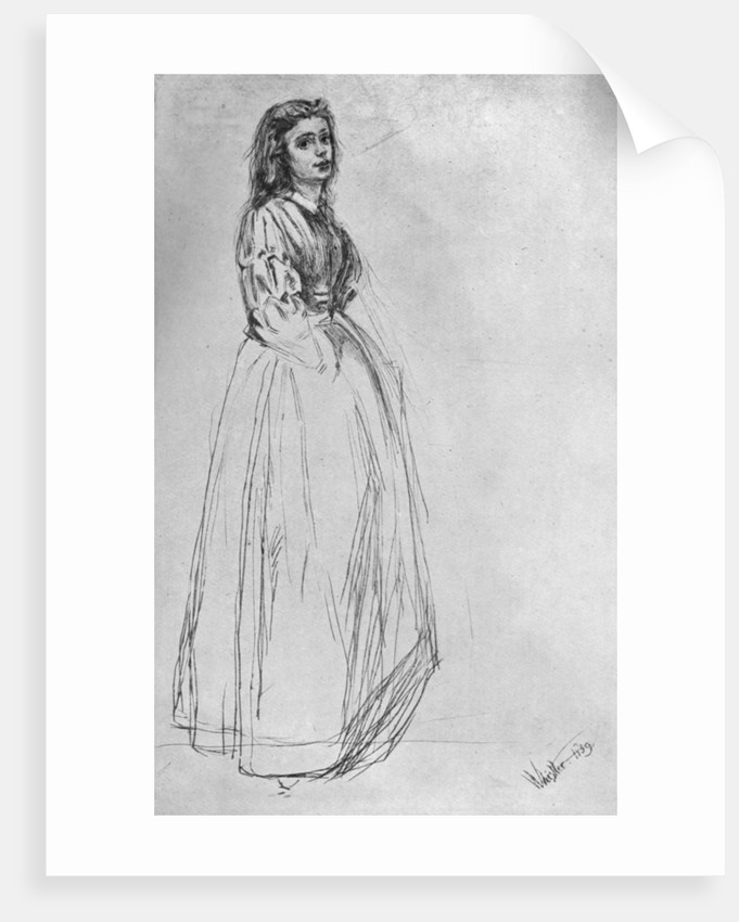 'Fumette, Standing' 1859 by James Abbott McNeill Whistler